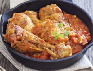Rcette de poulet tomate épinards