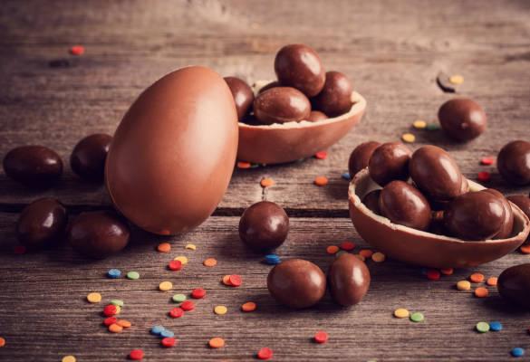 Oeufs de paque en chocolat