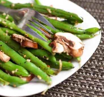 Salade de haricots verts et champignons