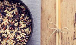 Salade fraîche de riz sauvage