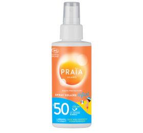 Protection solaire pour les enfants avec un SPS 50. Produit cosmétique certifié bio.