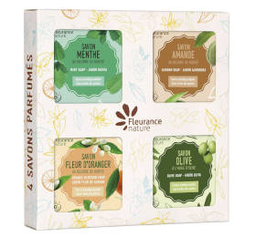 Coffret de 4 savons parfumés - cosmétique certifié bio