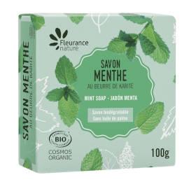 Savon parfumé à la menthe - cosmétique certifié bio