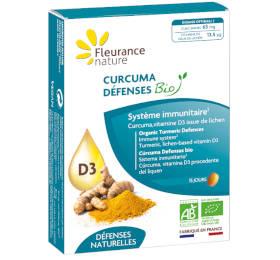 Complément alimentaire au curcuma bio pour les défenses naturelles