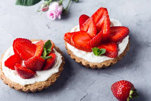Recette tarte fraises légère